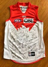 Autographed 2014 Sydney Swans Guernsey Jersey Jumper AFL Aussie Rules Football L
