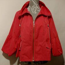CENTIGRADE Ladies Jacket UK M Bright Pink Short Zip Puff Sleeve Swing Back Cute