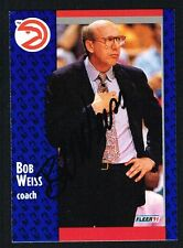 Bob Weiss #5 signed autograph auto 1991-92 Fleer Basketball Trading Card