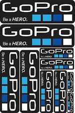 10x GOPRO REPLACEMENT STICKER KIT DECALS SPORTS STICKERS SHEET ACTION CAMERA