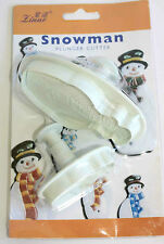 Set of 2 Snowman Plunger Cutters Sugarcraft, Cake Decorating Christmas.