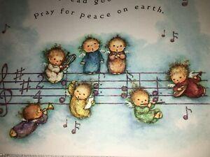 Precious Mary Hamilton Tiny Angels Christmas Card UNUSED Glittered Hallmark