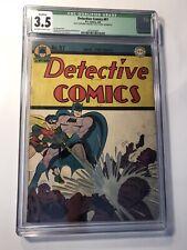 Detective Comics #97 CGC 3.5 Golden Age DC Comic Book! Batman & Robin! RARE! KEY