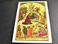 Nativity of Christ by THEOPHANES the Cretan-Stavronikita Monastery-Reproduction!