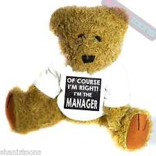 Manager Novelty Gift Teddy Bear