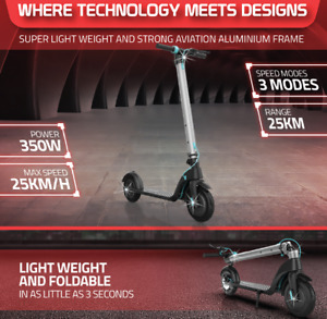 """AUSSTECH GX7 8.5"""" ELECTRIC SCOOTER 350W FOLDABLE E-SCOOTER MOTORISED SCOOTER"""