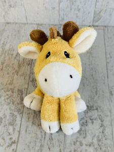 "Carters Yellow Giraffe Plush #60090 2010 6"" Two Stripes On Back"