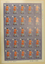 1970 Antigua stamp sheet of 25 purple Soldier 1701 Private MINT MNH