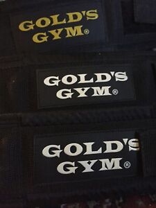 """3 X Gold's Gym 4"""" Deluxe Nylon Weight Lifting Belt - Small £19.99 For All Three"""