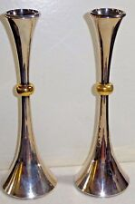 Pair of Dansk Designs Japan Silverplate Candlesticks JHQ EPZ Mid-Century