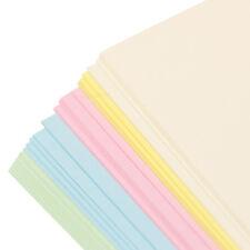 100 Pack Colour A4 160gsm Plain Blank Craft Card Sheets Cardmaking Decoupage Art