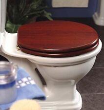 PLATINUM IN MOGANO EFFETTO Tavoletta per WC con cerniere in ottone