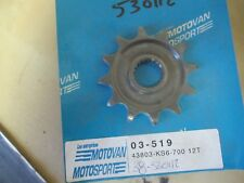 BVP FRONT SPROCKET - 12 TEETH  - HONDA  CR125 1986 + (1987-2000 BUT NO SPACER)