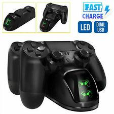LED Dual Charger Ladestation für 2 Game Controller Playstation 4 DHL