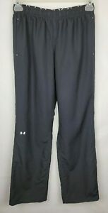 Under Armour UA Womens Size Small Black Woven Pants Semi Fitted Mesh Lined Pants