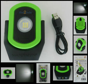 Maxxeon MXN00811 Cyclops USB Rechargeable LED Work Light Magnetic 720 Lm GREEN