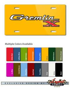 AMC Gremlin X 1970 1978 Vintage Emblem Novelty 6X12 Alu. License Plate 16 Colors