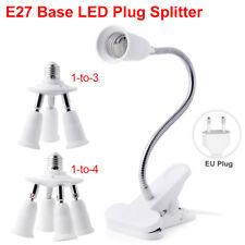 E27 SOCKET LED LIGHT CONVERTER LAMP HOLDER FLEXIBLE EXTENSION ADAPTER CLIP 2C54