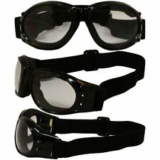 2 Birdz Red Baron Motorcycle Padded Airsoft Goggles Clear & Smoke Lens