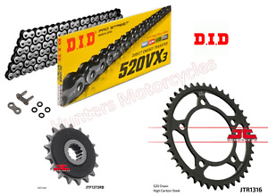Honda NC750S DID X-Ring Chain and JT Quiet Sprocket Kit Set 2014 to 2018