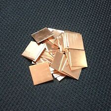 5x 25mm*25mm*1.5mm Copper shim Thermal Pads For XBOX PS3 PS4 GPU