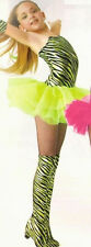 GROUP LOTs OF 5 Child Small Lime Punk Rocker Tutu Dance Costume - for one price!