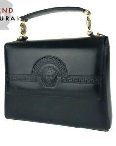 Genuine Gianni Versace bag Medusa black leather vintage