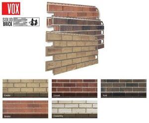 VOX  Mock Lightweight Brick Cladding 1000mm x 420mm panel 5 different colours