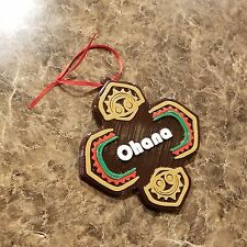 Polynesian Ohana Themed Christmas Ornament ( Disney Tiki Inspired Resort )