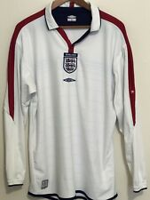 ENGLAND Football National Team Umbro Home 2003/05 Jersey Reversible Long Sleeve