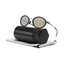 ic! Berlin Udo H Sunglasses Chrome Obsidian Frame / Silver Mirrored Lenses
