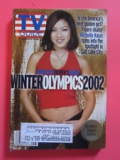 MICHELLE KWAN TV GUIDE FEBRUARY 9 - 15, 2002 WINTER OLYMPICS PREVIEW