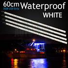 4 x Waterproof White LED Light Strip 60cm 12V Boat Caravan Car Marine Camping OZ