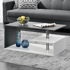 [en.casa] Couchtisch Weiß/Grau Tisch Beistelltisch Wohnzimmertisch Sofatisch