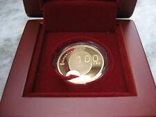SLOVENIA 2012 100 EURO ORO GOLD FONDO SPECCHIO FS PROOF PP BE MEDAGLIA OLIMPICA
