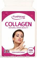 120 Collagen 1000mg Types 1 & 3 Healthy Joints Hair Skin & Nails with Vitamin C