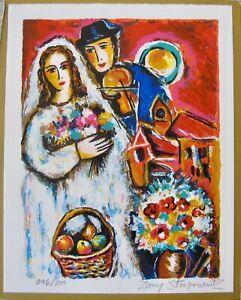 "ZAMY STEYNOVITZ ""BRIDE SERENADE"" Hand Signed Limited Edition Lithograph Art"