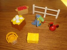 7 pcs 1990's Fisher Price Preschool Pretend Play Replacement Parts Farm Zoo etc