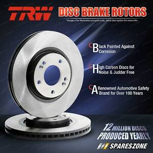 2x Front TRW Disc Brake Rotors for Fiat 500 312AG1A 312AXA1A 0.9L 1.2L Hatchback