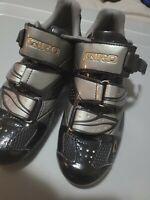 Giro Women's Espada Cycling Shoe, Black/Titanium, 38.5