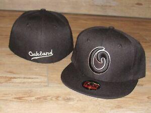 Oakland Oaks Pacific Coast League PCL Vintage Fitted Hat Cap Men's Size 7 1/4