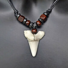 Shark Tooth Teeth Shape Pendant Necklace Men Boy Women Unisex Jewelry Adjustable