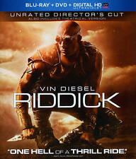 Riddick (Unrated Director's Cut Blu-ray + DVD + Digital HD UltraViolet) NEW!