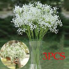 3 Artificial Gypsophila Floral Fake Silk Flower Bouquet Home Decor Wedding Party