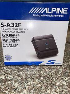 Alpine S-A32F 320W 4 Channel Car Amplifier