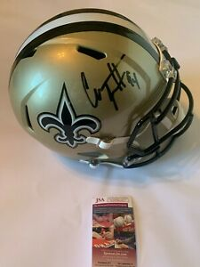 Cam Jordan Autographed Full Size New Orleans Saints Speed Helmet JSA Witness COA