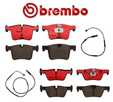 For BMW F22 F23 F30 F31 F32 F33 Front & Rear Brake Pad Sets & Sensors Kit Brembo
