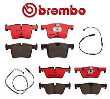 For BMW F22 F23 F30 F31 F32 F33 Front & Rear Brake Pad Sets & Sensors Kit Brembo