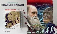 Sierra Leone - 2019 Charles Darwin Anniversary - Stamp Souvenir Sheet SRL190501b