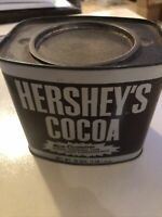 VINTAGE STEEL HERSHEY'S COCOA TIN 16 OZ SIZE WITH RECIPES!!  EMPTY
